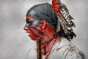 Delaware Indian Warrior - by Artist Randy Steele - Source: http:// fineart america .com /featured /french -and -indian -war -delaware -indian -warrior -randy -steele. html